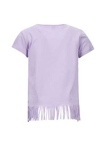 DeFacto Kız Çocuk Avokado Baskılı Kısa Kol Tişört Mor